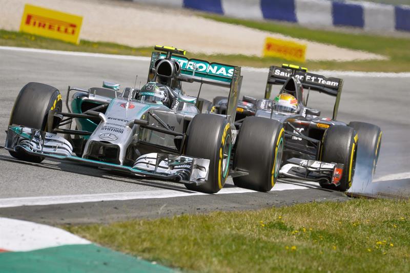 El piloto alemán Nico Rosberg durante el Gran Premio de Austria. Foto: EFE