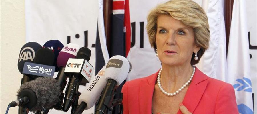 Ministra de Exteriores australiana, Julie Bishop. Foto: EFE