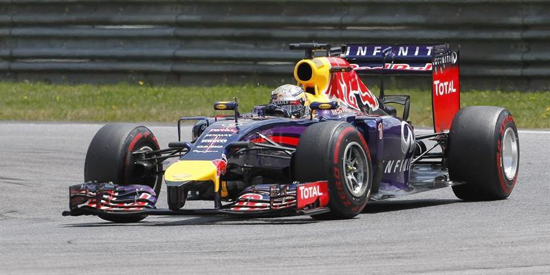 El piloto alemán Sebastian Vettel durante el Gran Premio de Austria. Foto: EFE