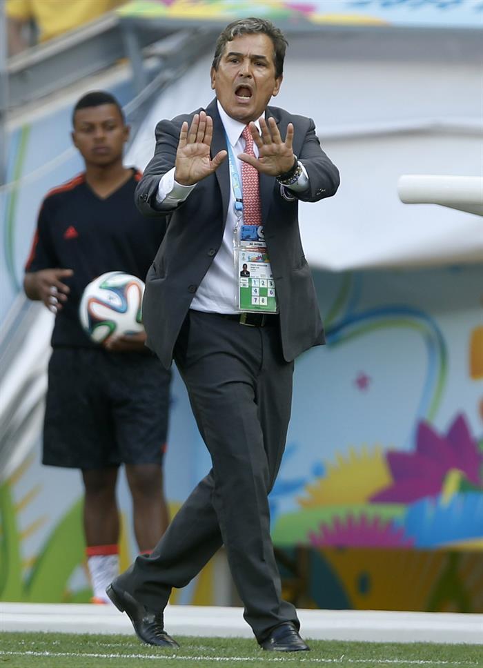 El entrenador colombiano de la selección costarricense Jorge Luis Pinto. EFE