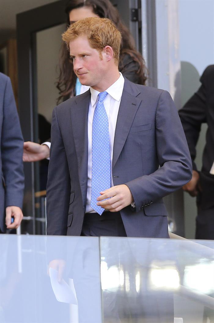 El Príncipe Enrique de Inglaterra asiste al partido Costa Rica-Inglaterra. EFe