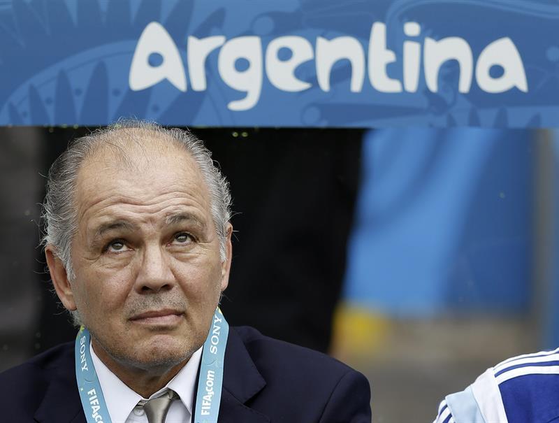 El entrenador de la selección argentina, Alejandro Sabella, durante el partido Nigeria-Argentina. EFE