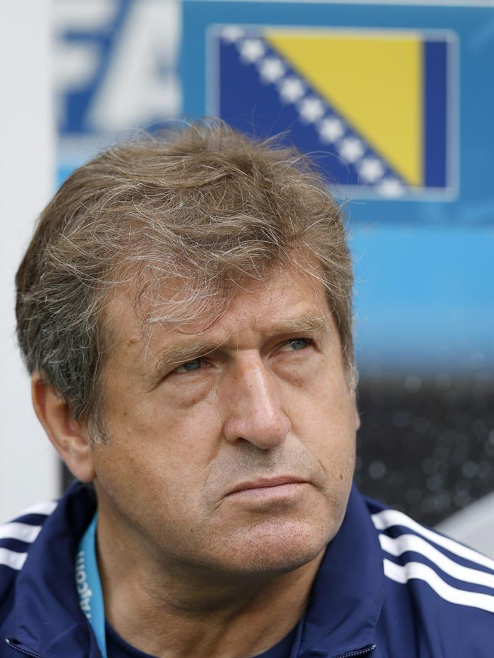 Bosnia-Herzegovina's coach Safet Susic during the FIFA World Cup 2014 group F. EFE