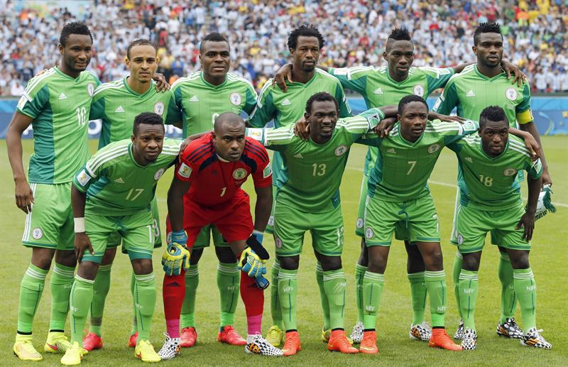 Nigeria's starting eleven pose prior the FIFA World Cup 2014 group F. EFE