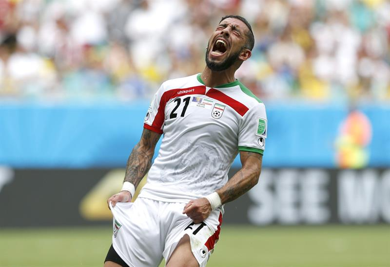 Ashkan Dejagah of Iran reacts during the FIFA World Cup 2014 group F preliminary round match between Bosnia and Herzegovina. EFE
