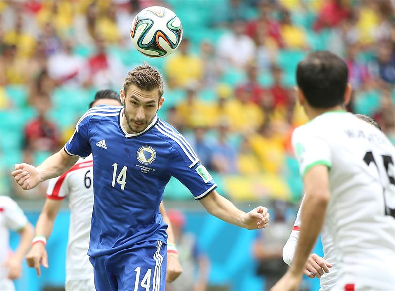 Tino Susic of Bosnia-Herzegovina in action during the FIFA World Cup 2014 group F. EFE