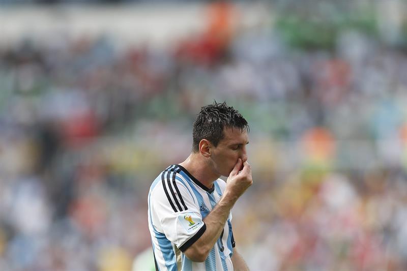 El delantero argentino Lionel Messi durante el partido Nigeria-Argentina, del Grupo F del Mundial de Fútbol. EFE