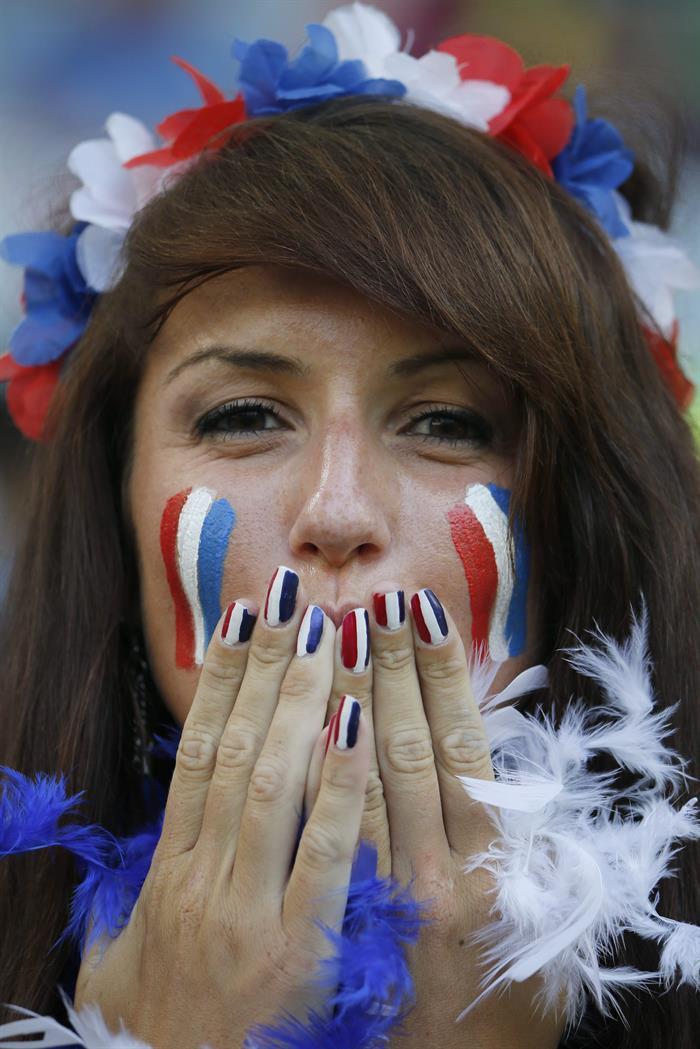 Fanáticos de Francia en el estadio. EFE