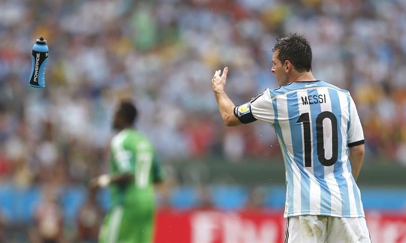 El delantero argentino Lionel Messi durante el partido Nigeria-Argentina, del Grupo F del Mundial. EFE