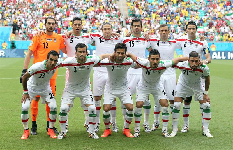 Iran team pose prior the FIFA World Cup 2014 group F preliminary round match between Bosnia and Herzegovina. EFE