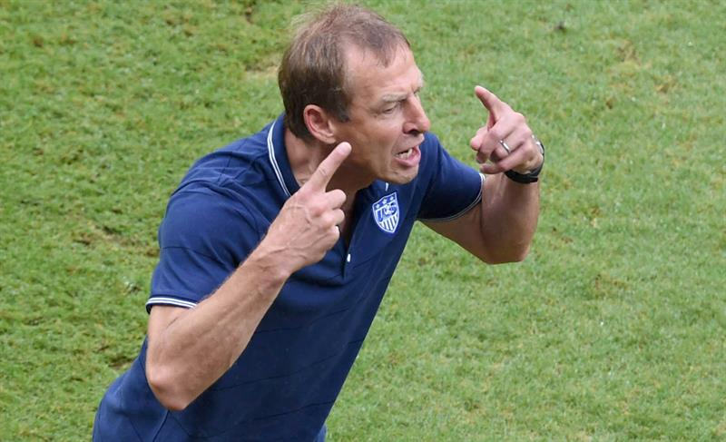 USA's German head coach Juergen Klinsmann reacts during the FIFA World Cup 2014 group G. EFE