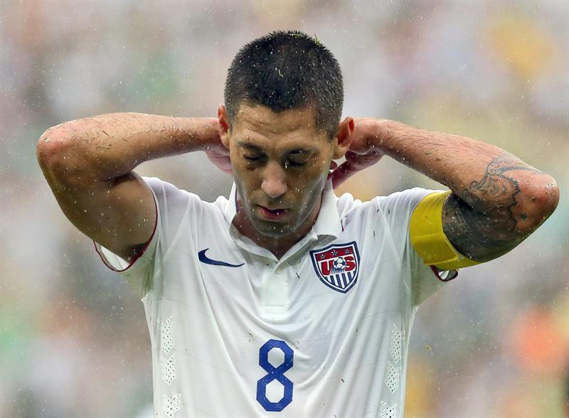 Clint Dempsey of the USA reacts during the FIFA World Cup 2014 group G. EFE