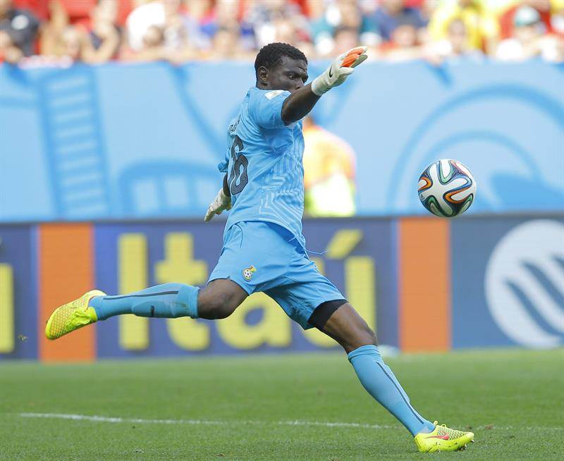Goalkeeper Fatawu Dauda of Ghana in action during the FIFA World Cup 2014 group G. EFE