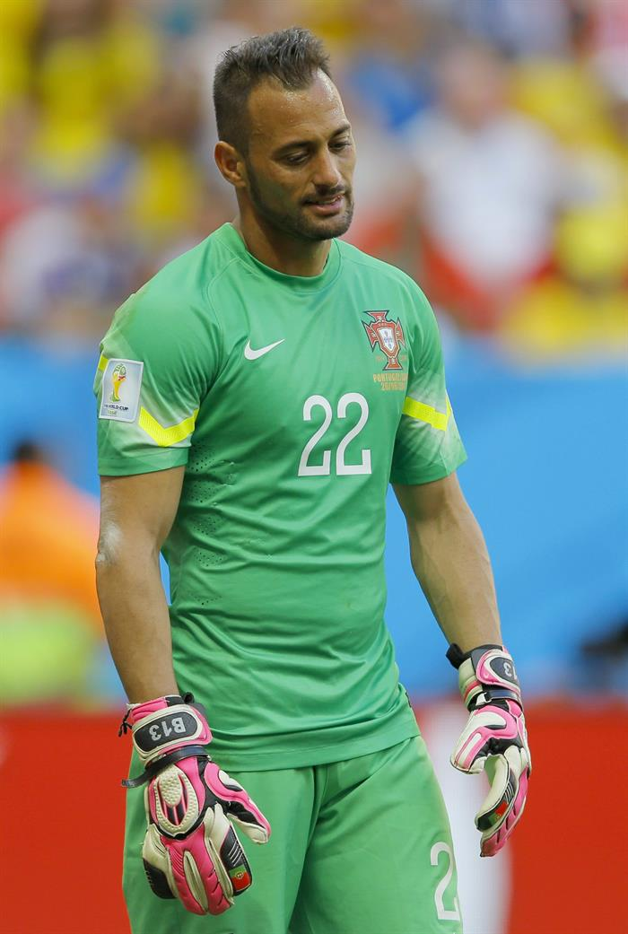 Goalkeeper Beto of Portugal reacts during the FIFA World Cup 2014 group G. EFE
