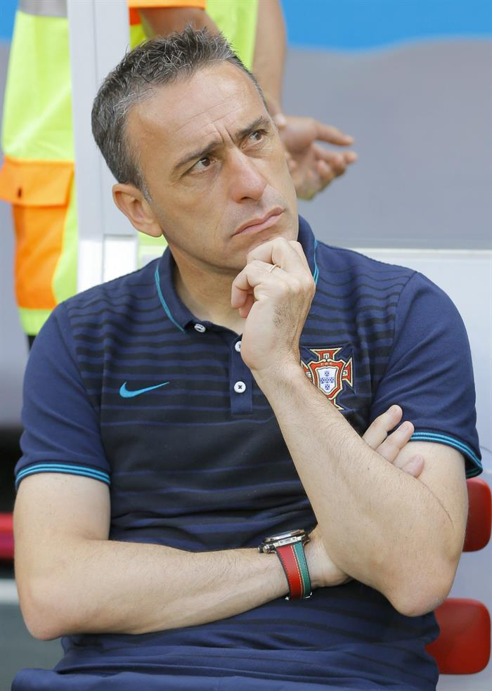 Portugal's coach Paulo Bento before the FIFA World Cup 2014 group G. EFE