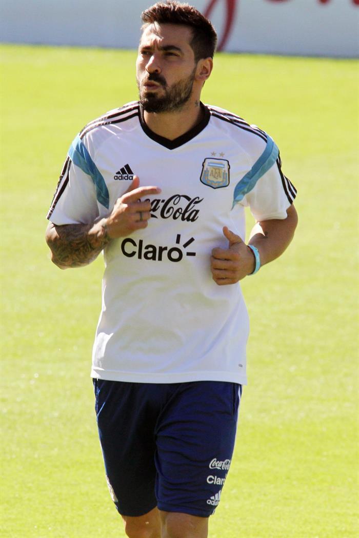 El jugador de la selección Argentina Ezequiel Lavezzi participa . EFE