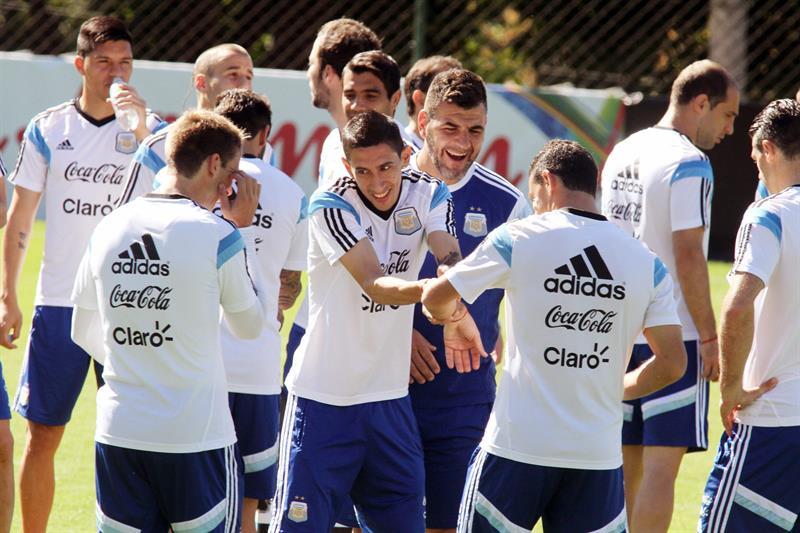 Los jugadores de la selección Argentina . EFE