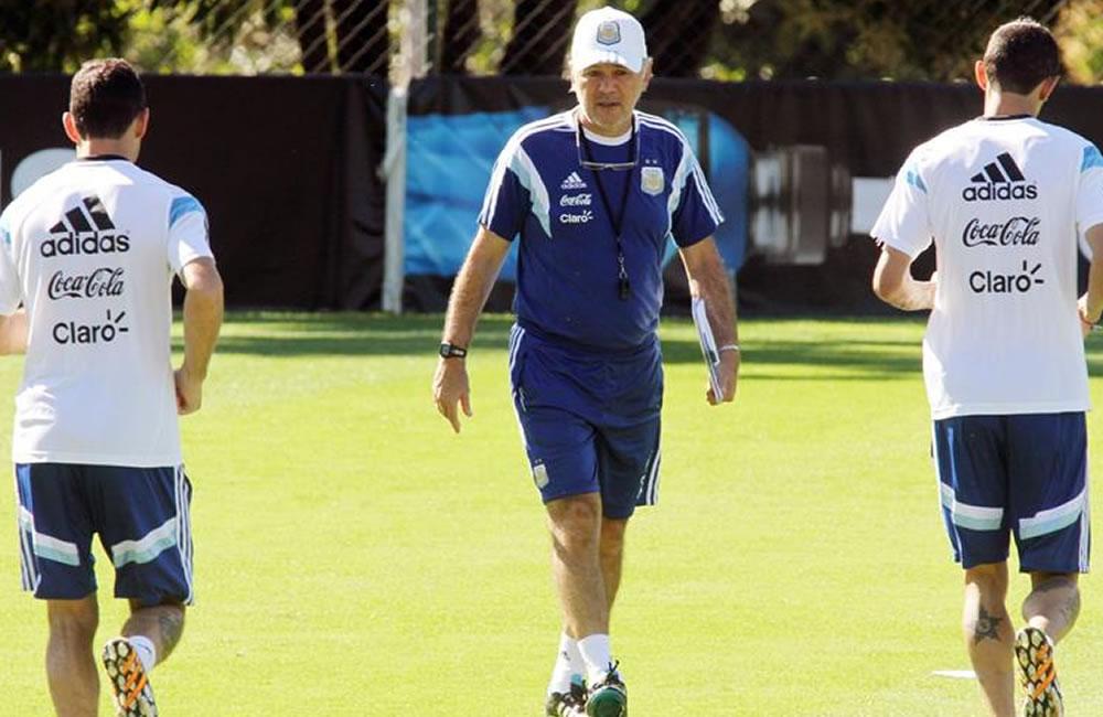 El seleccionador argentino, Alejandro Sabella. Foto: EFE