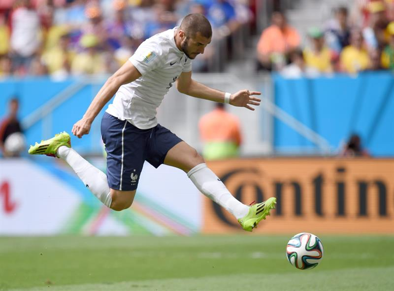 Karim Benzema of France in action during the FIFA World Cup 2014 round of 16 match between France and Nigeria. EFE