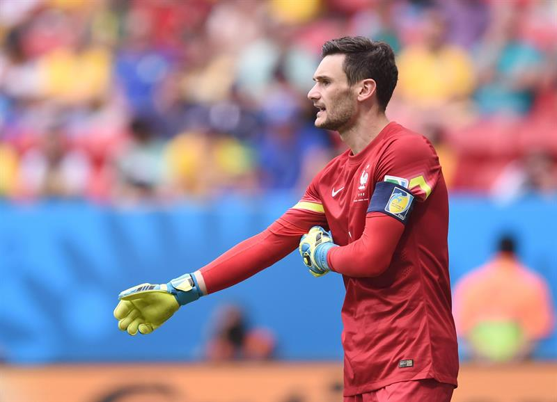 Goalkeeper Hugo Lloris of France reacts during the FIFA World Cup 2014 round of 16 match between France and Nigeria at the Estadio Nacional in Brasilia. EFE