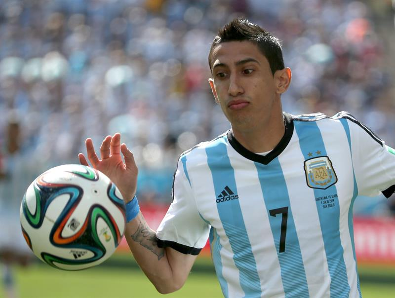 Angel di Maria of Argentina in action during the FIFA World Cup 2014. EFE