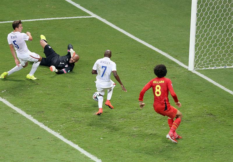 Bélgica supera a EEUU en la prórroga y será rival de Argentina. EFE