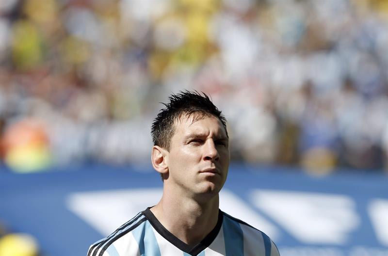 Lionel Messi of Argentina prior the FIFA World Cup 2014 round of 16 match between Argentina and Switzerland at the Arena Corinthians in Sao Paulo. EFE
