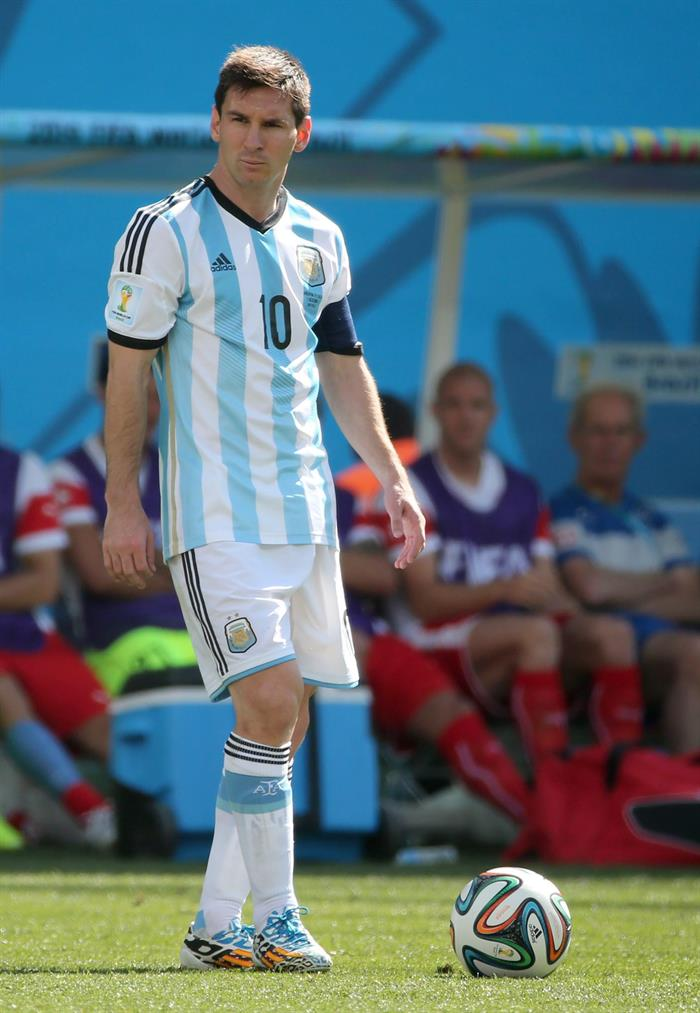 Lionel Messi of Argentina in action during the FIFA World Cup 2014. EFE
