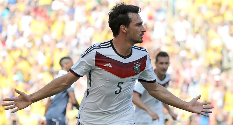 Mats Hummels of Germany celebrates his 0-1 goal during the FIFA World Cup 2014. EFE