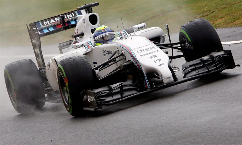 El piloto brasilñeo Felipe Massa durnate la clasificación del Gran Premio de Gran Bretaña. Foto: EFE