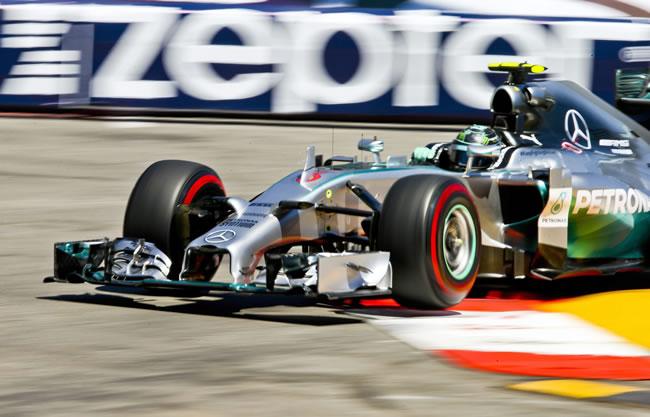El piloto alemán Adrian Sutil  durante la clasficiación del GRan Premio de Gran Bretaña. Foto: EFE