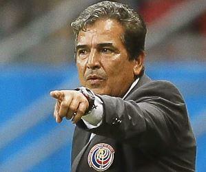 Jorge Luis Pinto, DT colombiano de Costa Rica, se fue del Mundial invicto. Foto: EFE.