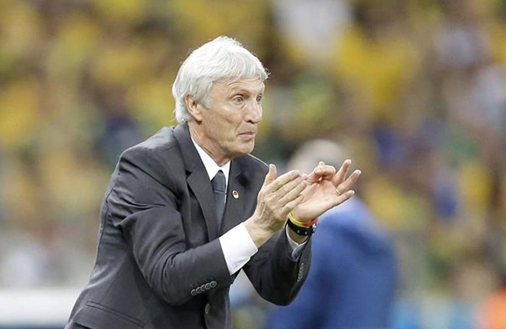 El entrenador de la selección Colombia José Pékerman. EFE