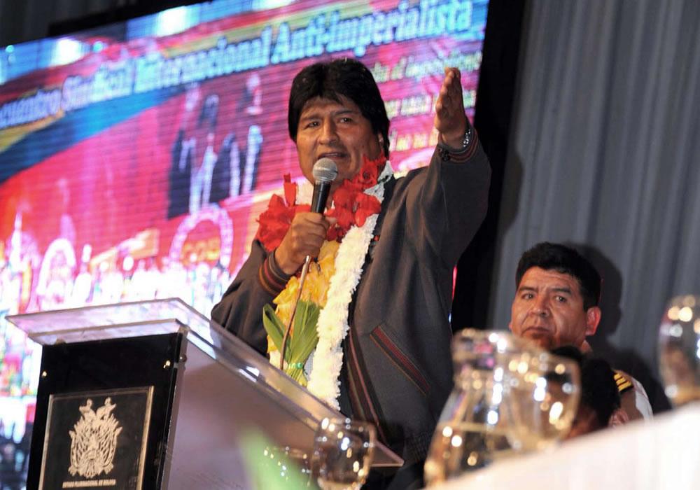 Fotografía cedida por la Agencia Boliviana de Información (ABI) del presidente de Bolivia, Evo Morales. EFE