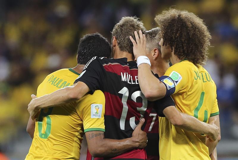 Alemania pasa a la final con un 'Mineirazo' al aplastar por 1-7 a Brasil