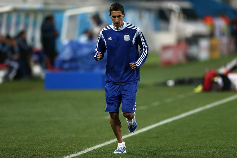 El jugador Ángel di Maria de la selección de la Argentina. EFE