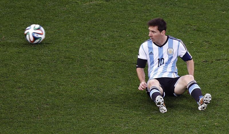 El delantero argentino Lionel Messi durante el partido Holanda-Argentina, de semifinales del Mundial. Foto: EFE