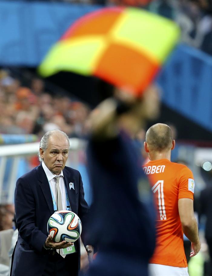 El entrenador de la selección argentina Alejandro Sabella. Foto: EFE