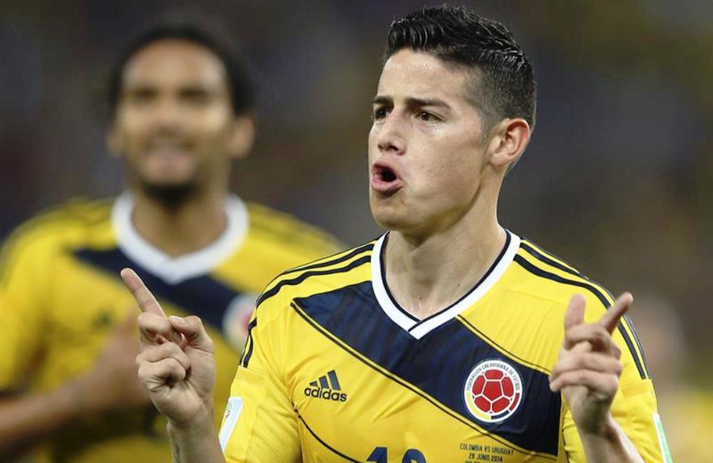 James Rodríguez podría ser el primer colombiano goleador de un Mundial. Foto: EFE.