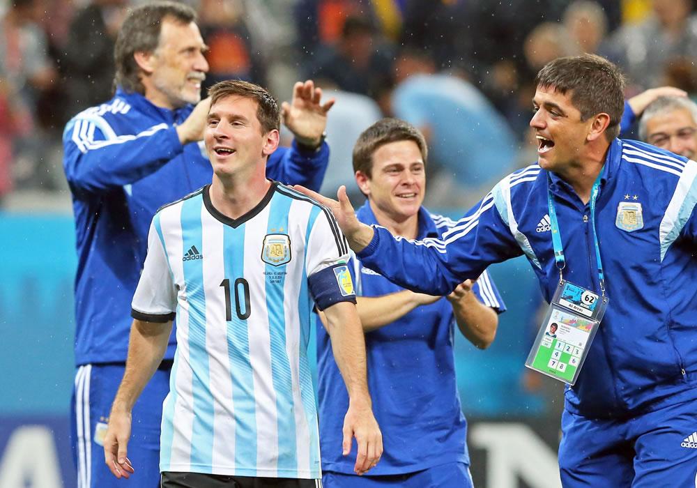 Messi vive latente su ilusión de ser campeón del mundo. EFE