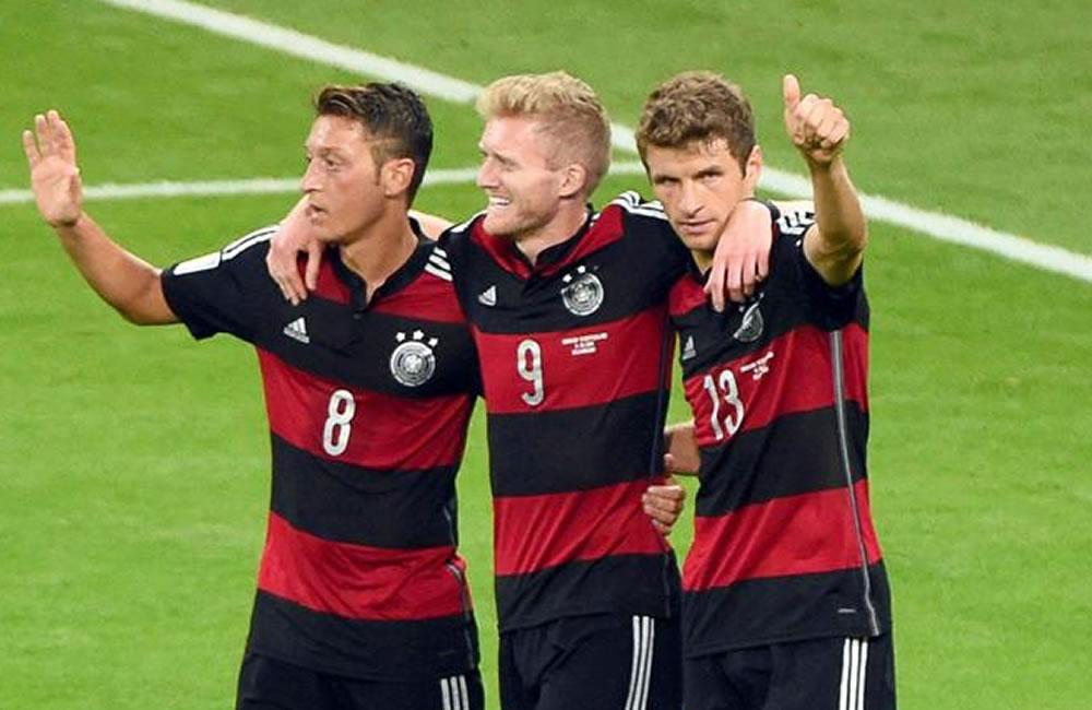 Así llegó Alemania a la final: cinco victorias y un empate. EFE