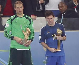 Messi gana el Balón de Oro al mejor jugador del Mundial. EFE
