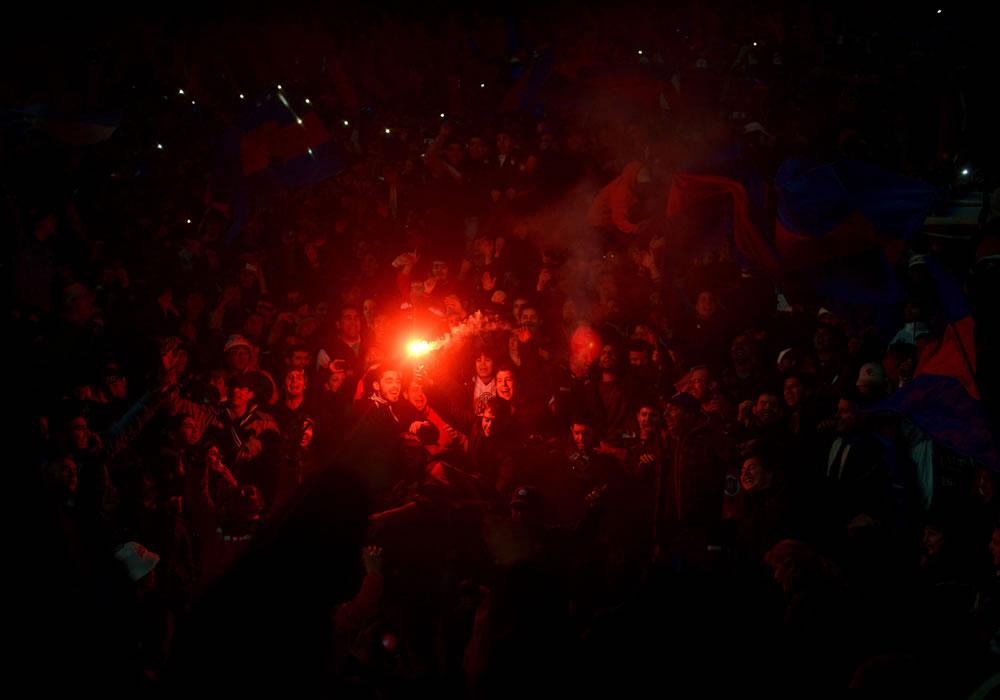 Hinchada de San Lorenzo invade Asunción para asistir a la final de la Libertadores. Foto: EFE