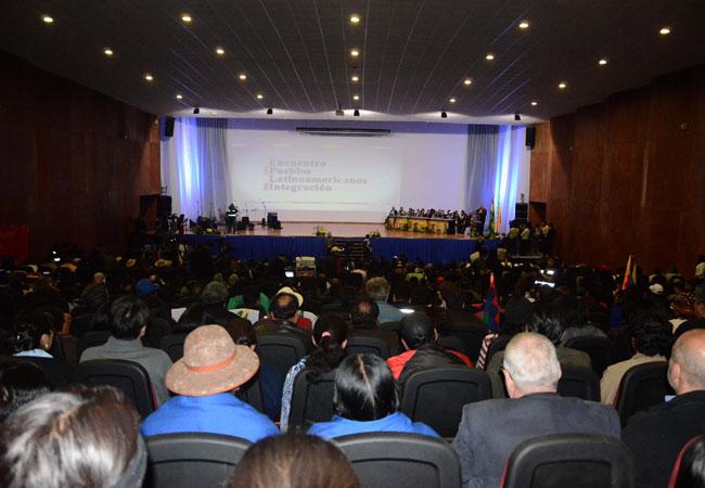 XX Foro de Sao Paulo que se realizó en la ciudad de La Paz los días 28 y 29 de agosto. Foto: ABI