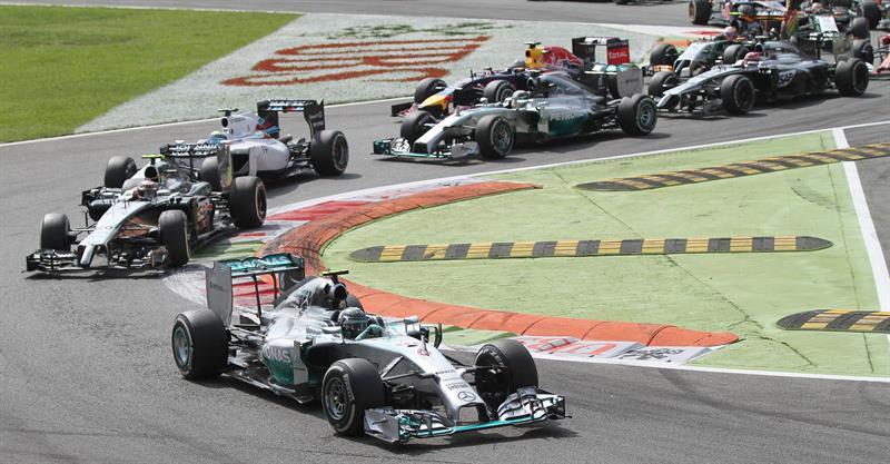 Así fue el Gran Premio de Italia en el circuito de Monza. Foto: EFE