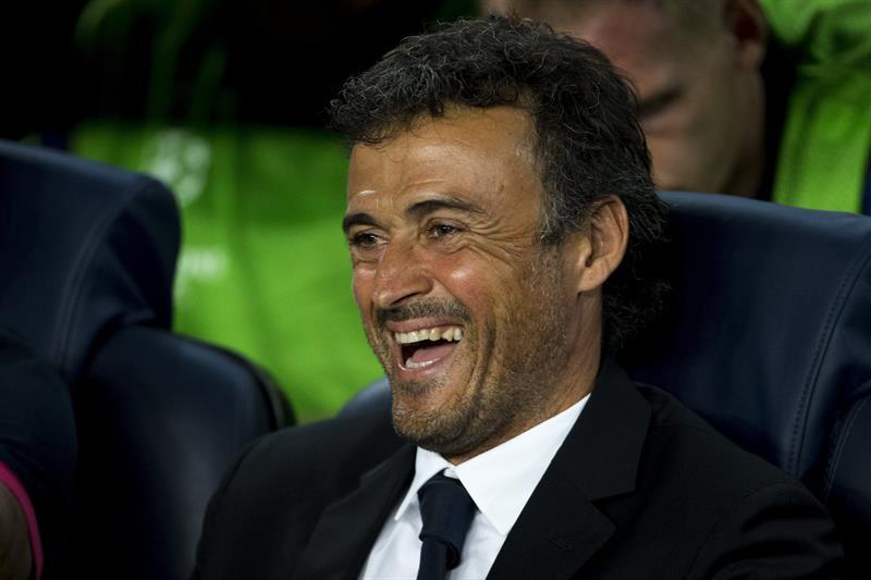 El entrenador del FC Barcelona, Luis Enrique, durante el partido de la primera jornada del Grupo G de Liga de Campeones. Foto: EFE