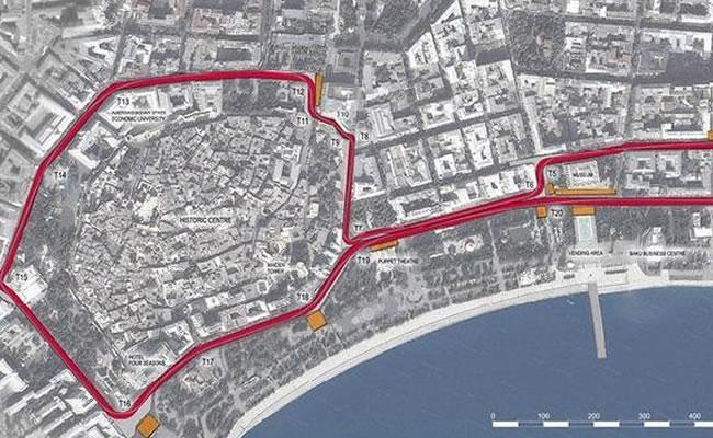 Bakú presenta su circuito urbano para acoger la Fórmula Uno en 2016. Foto Twitter.com