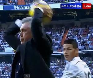 ¿Ancelotti se burla de James?