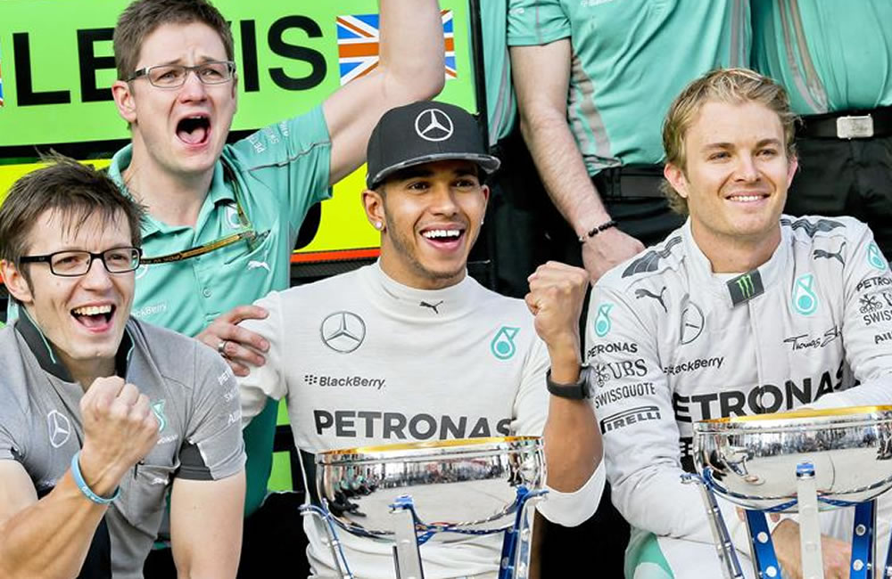 Hamilton y Rosberg afrontan último asalto antes de la resolución en Abu Dabi. Foto: EFE