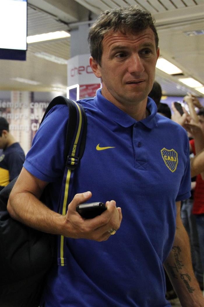Las imágenes de la llegada de Boca a Asunción